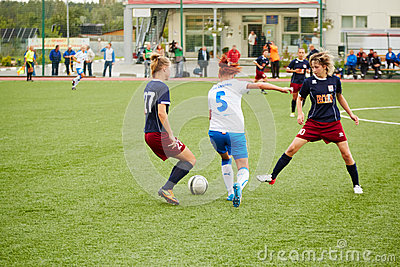 Start of Russia championship on female soccer Editorial Stock Photo
