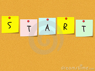 Start Sticky Notes on bulletin board