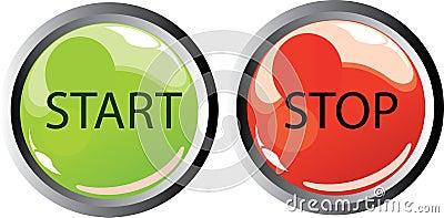 Start stop buttons