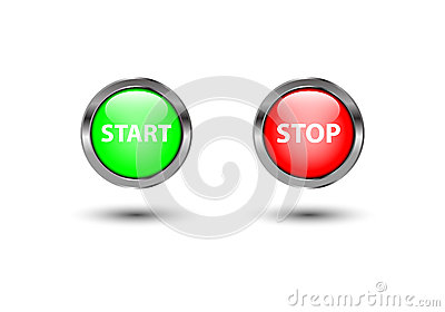 Start stop power button
