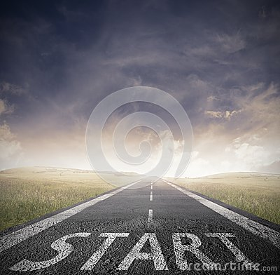 Free Start Straight For Business Stock Image - 29220651