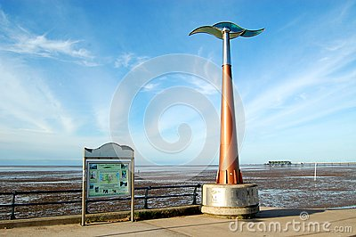 Start of the Trans Pennine Trail, Southport Editorial Photography