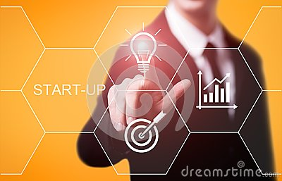 Start-up Funding Crowdfunding Investment Venture Capital Entrepreneurship Internet Business Technology Concept Stock Photo