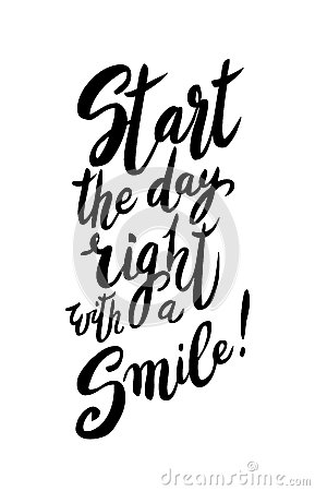 Start Your Day With A Smile Cartoon Vector Cartoondealercom