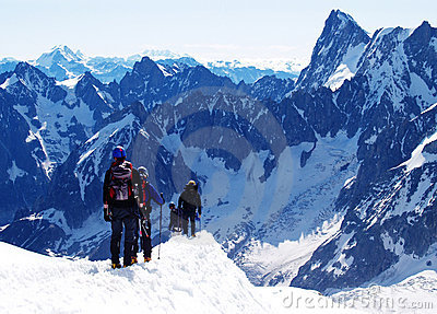 Starting point of Mont Blanc journey Editorial Photography