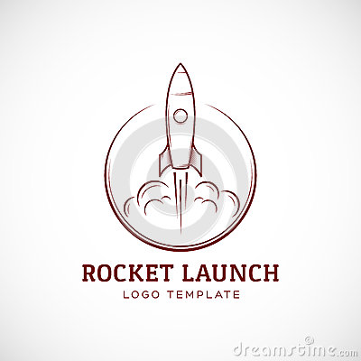 Free Startup Rocket Space Ship Abstract Vector Logo Stock Photography - 51644102