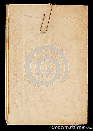 Stary klamerka papier