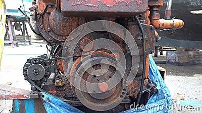 Stary silnik okrętowy zbiory wideo