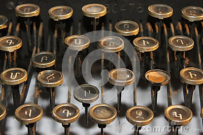 Starzy maszyna do pisania klucze