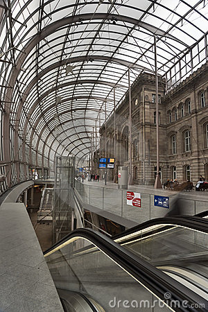 Free Stasbourg Railway Station Vertical Royalty Free Stock Images - 12158189