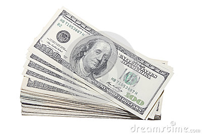Stash of US One Hundred Dollar Bills Currency