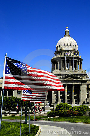 Free State Capital With Flags Royalty Free Stock Image - 3740456