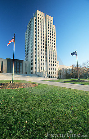 Free State Capitol Of North Dakota, Royalty Free Stock Images - 23166329