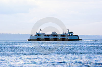 State Ferry on Puget Sound in early morning