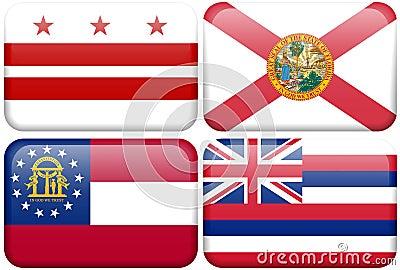 State Flag: DC, Florida, Georgia, Hawaii
