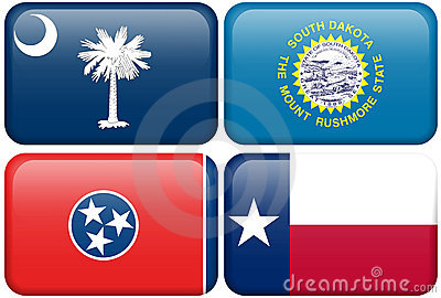 State Flags: SC, SD, Tennessee, Texas