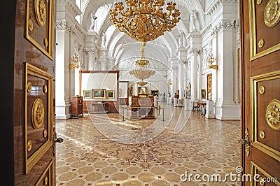 State Hermitage Museum corridor Editorial Photo