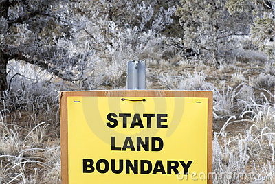 State Land Boundary Sign