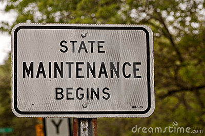 State Maintenance Begins