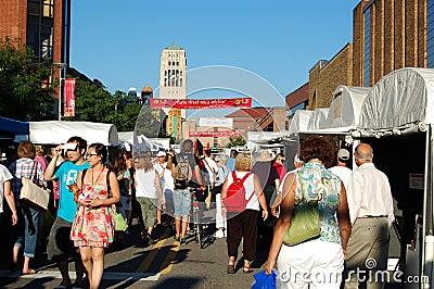 State Street Area Art Fair, Ann Arbor Editorial Photo