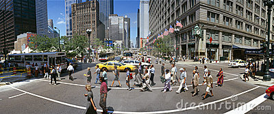 State Street with Marshall Field s Clock Editorial Image