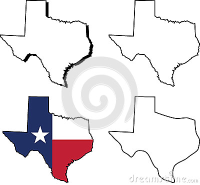 State of Texas Vector Illustration
