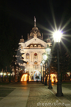 State theatre in night Kosice city