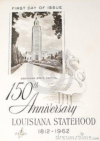 Statehood of Louisiana commemorated Editorial Stock Image