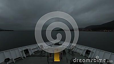 Statek Rozpływa Stokmarknes, Norwegia zbiory wideo