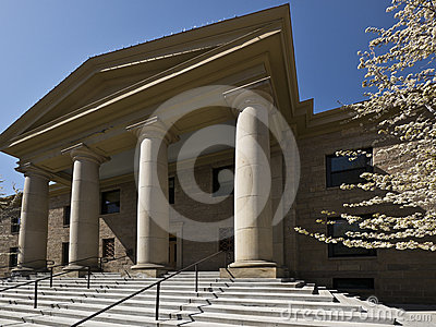 Stately courthouse architecture