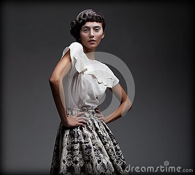 stately fascinating woman classic elegant blouse skirt aristocracy pretty 30360579