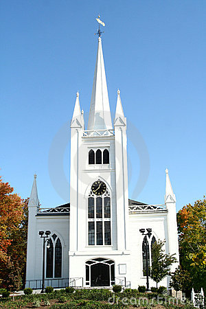 Stately New England Church