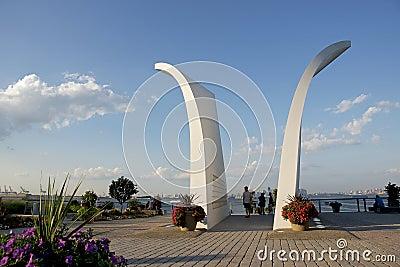 Staten Island 9/11 Memorial, New York Editorial Stock Photo