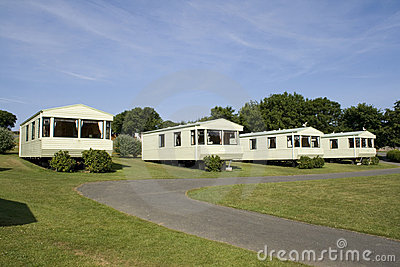 Static caravans on a camping site