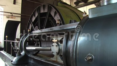Stationäre Dampfmaschine 1 stock video