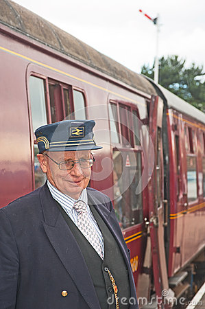 Station Master at Boat of Garten Editorial Stock Photo