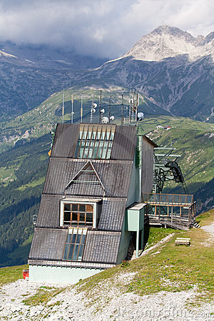 Station of a mountain cable car