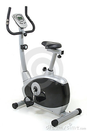 Free Stationary Bike. Gym Machine Royalty Free Stock Image - 982896