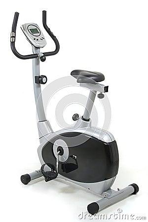Stationary bike. Gym machine