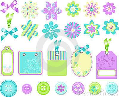 Stationary Embellishments Vector Elements