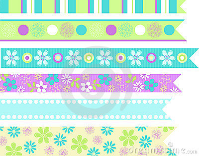 Stationary Ribbons Vector Elements