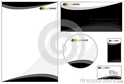 Stationery with company logo