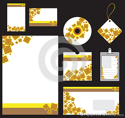 Stationery set for company vector format