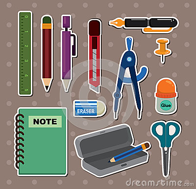 Free Stationery Stickers Stock Photography - 24724322