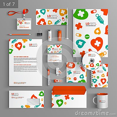 Free Stationery Template Design Stock Image - 54398411