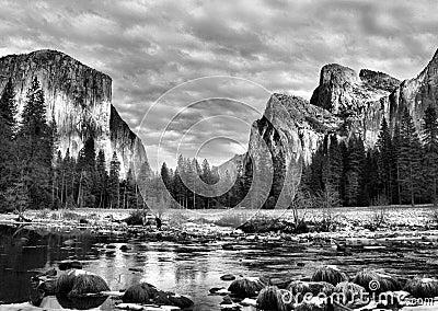 Stationnement de Yosemite, la Californie