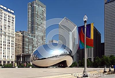 Stationnement du millénaire de Chicago Image éditorial