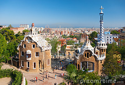 Stationnez Guell Image stock éditorial