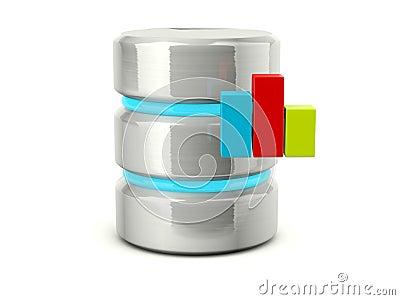 Statistic data base icon