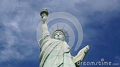 Statua della libertà stock footage